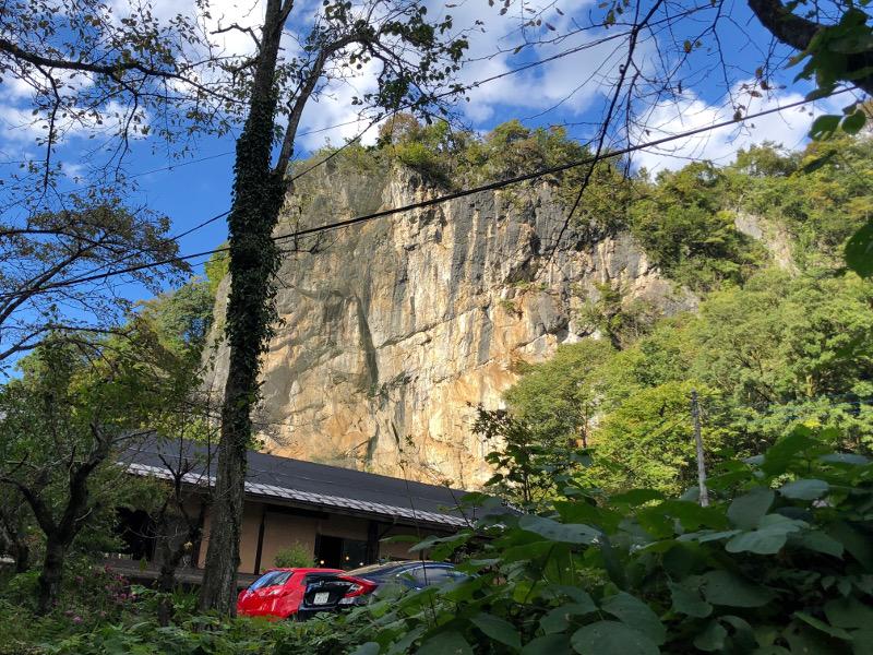 鍾乳洞の岩